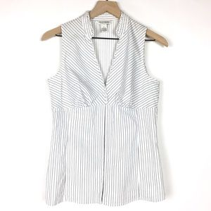 White House Black Market Top S Sleeveless Stripe